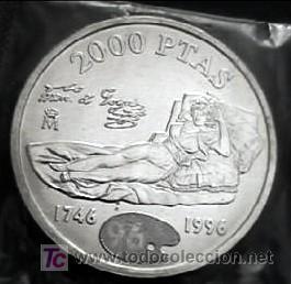 2000 Pesetas Plata Año 1996 La Maja De Goya Mo Comprar Monedas De Juan Carlos I En Todocoleccion 70095358
