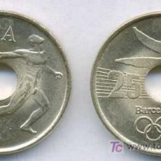 Monedas Juan Carlos I: 25 PESETAS 1990 EMBLEMA S/C DE CARTUCHO. Lote 5314328