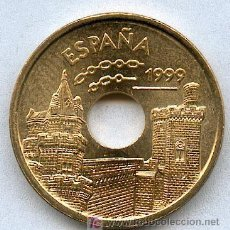 Monedas Juan Carlos I: 25 PESETAS AÑO 1999, SIN CIRCULAR PRECIOSA. UNA DE LAS MAS ESCASAS. Lote 56390212