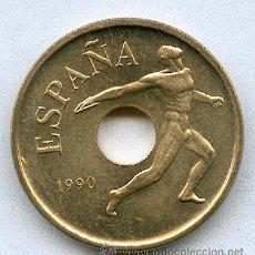 Monedas Juan Carlos I: 25 PESETAS 1990 EMBLEMA SIN CIRCULAR. Lote 107773570