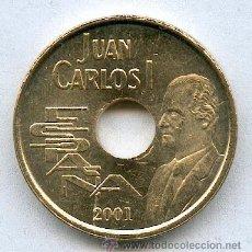 Monedas Juan Carlos I: 25 PESETAS AÑO 2001 (LA ULTIMA EMITIDA) SIN CIRCULAR. Lote 54523870