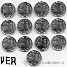 Monedas Juan Carlos I: COLECCION COMPLETA DE LAS MONEDAS DE 1 PESETA DE ALUMNIO MODULO PEQUEÑO DE JUAN CARLOS I (LENTEJAS) . Lote 26468917