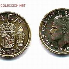 Coins Juan Carlos I - PAREJA MONEDAS 100 PESETAS 1989 SIN CIRCULAR - 168731305