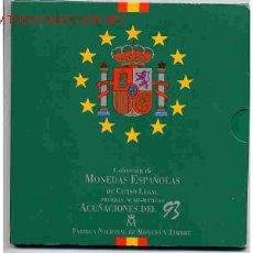 Monedas Juan Carlos I: CARTERA SET OFICIAL ESTUCHE 1993 FNMT PESETAS, ORIGINAL. Lote 26499318
