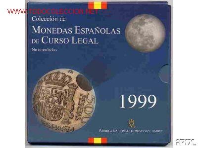 CARTERA SET OFICIAL ESTUCHE 1999 FNMT PESETAS , RB (Numismática - España Modernas y Contemporáneas - Juan Carlos I)