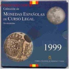 Monedas Juan Carlos I: CARTERA SET OFICIAL ESTUCHE 1999 FNMT PESETAS , RB. Lote 153842301