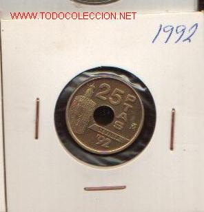 25 PTS DE 1992 SC (Numismática - España Modernas y Contemporáneas - Juan Carlos I)