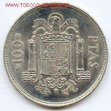 Monedas Juan Carlos I: 100 PESETAS 1975*76, CIRCULADA PERO PRECIOSA MONEDA. LA PRIMERA DE 100 PESETAS EMITIDA POR JUAN CARL. Lote 121996659