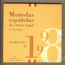 Monedas Juan Carlos I: MONEDAS ESPAÑOLAS DE CURSO LEGAL. 1998. NO CIRCULADAS. FLOR DE CUÑO.. Lote 26844372