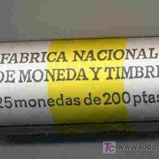 Monedas Juan Carlos I: CARTUCHO MONEDAS DE 200 PESETAS 1995 , FNMT, OFICIAL , 25 MONEDAS. RB. Lote 26822812