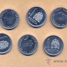 Monedas Juan Carlos I: NN114 - 10 MONEDAS DE 1 PESETA 1987 - JUAN CARLOS I - FDC - 10 MONEDAS DE 1 PESETA 1987. Lote 23349179