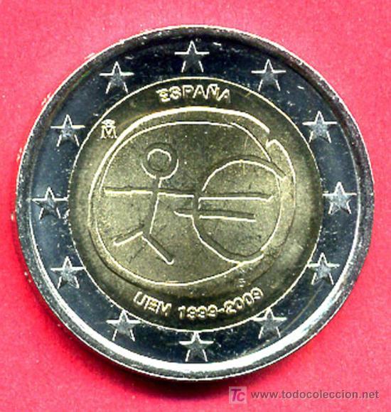 MONEDA DE 2 EUROS 2009 ESPAÑA EMU ,ESTRELLAS GRANDES (VARIANTE) . SIN CIRCULAR DE CARTUCHO, RB (Numismática - España Modernas y Contemporáneas - Juan Carlos I)