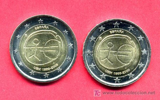 Monedas Juan Carlos I: MONEDA DE 2 EUROS 2009 ESPAÑA EMU ,ESTRELLAS GRANDES (VARIANTE) . SIN CIRCULAR DE CARTUCHO, RB - Foto 3 - 153842482