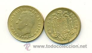 3-00175-77+. 1 PESETA 1975 ESTRELLA 1977. MBC (Numismática - España Modernas y Contemporáneas - Juan Carlos I)