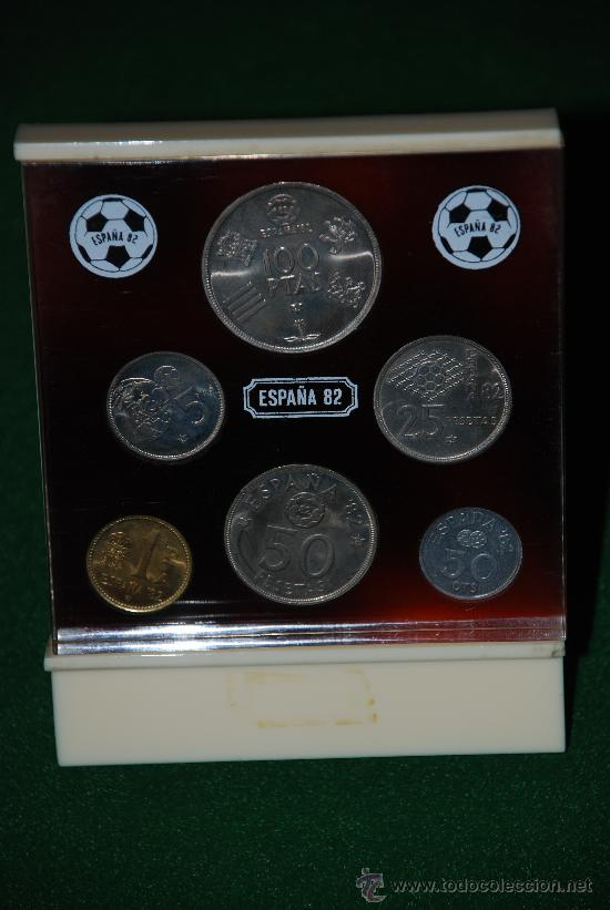 SET DE MONEDAS DEL MUNDIAL DE FUTBOL ESPAÑA 82 (Numismática - España Modernas y Contemporáneas - Juan Carlos I)