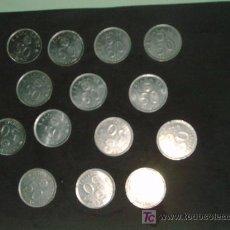 Monedas Juan Carlos I: LOTE 14 MONEDAS 50 PTS 1980. Lote 36879382