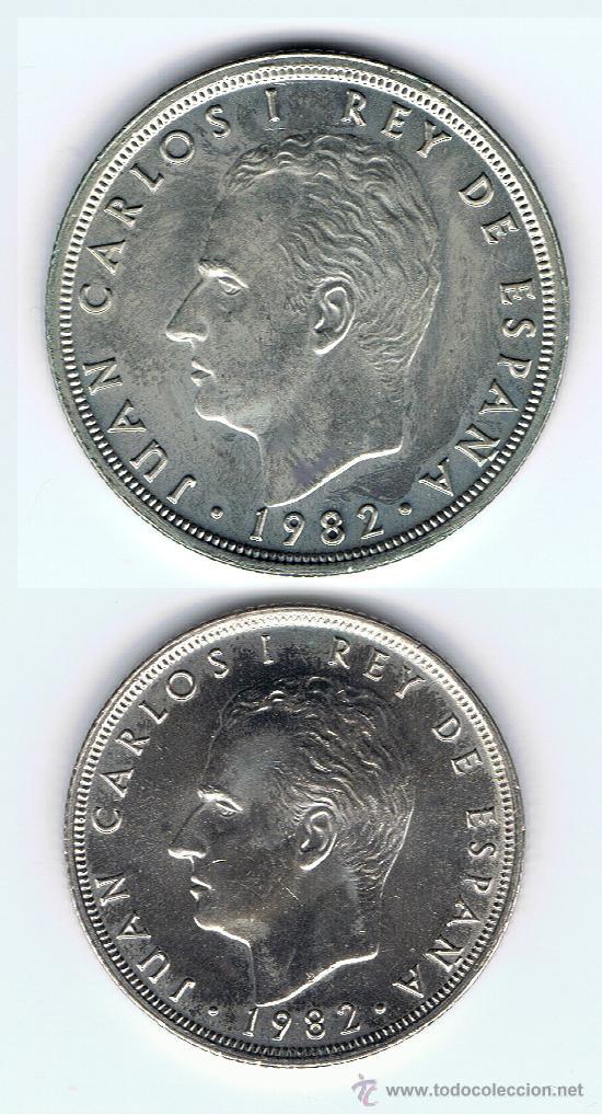 2 MONEDAS SC 1 DE 25 PTS. 1982 Y 1 DE 50 PTS.DE 1982 VER FOTOS (Numismática - España Modernas y Contemporáneas - Juan Carlos I)