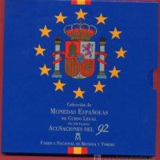 Monedas Juan Carlos I: CARTERA SET OFICIAL ESTUCHE MONEDAS 1992 FNMT PESETAS. Lote 25742660