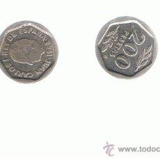 Moedas Juan Carlos I: LOTE 2 UNIDADES 200 PTES 1988. Lote 24045287