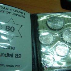 Monedas Juan Carlos I: CARTERA MONEDAS SERIE MUNDIAL 82 AÑO 1980 ,ESTRELLA 1980. Lote 27120905