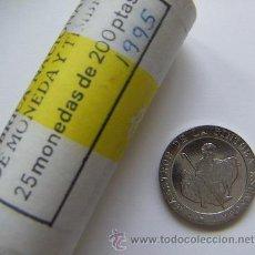 Monedas Juan Carlos I: 200 PESETAS 1995 DE CARTUCHO SIN CIRCULAR LA MAS DIFICIL DE LA SERIE. Lote 94199400
