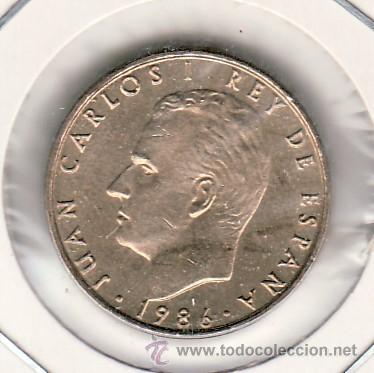 .MONEDA ESPAÑA JUAN CARLOS I 100 PTAS 1986 SIN CIRCULAR, FLOR DE LIS HACIA ANVERSO (Numismática - España Modernas y Contemporáneas - Juan Carlos I)
