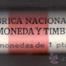 Monedas Juan Carlos I: MONEDA JUAN CARLOS I 1 PTA 1987 CARTUCHO FNMT DE 50 PIEZAS SIN CIRCULAR. Lote 235073180