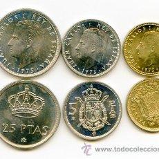 Monedas Juan Carlos I: LOTE DE MONEDAS DE 1975 *76. Lote 23924961