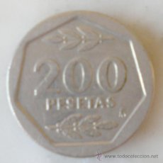 Monedas Juan Carlos I: 200 PESETAS 1986 MONEDA. Lote 24159911