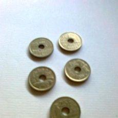 Monedas Juan Carlos I: COLECCIÓN DE 8 MONEDAS DE 25 PESETAS DESDE 1990 A 1997 (DESDE BARCELONA 92 A MELILLA1997). Lote 26814235