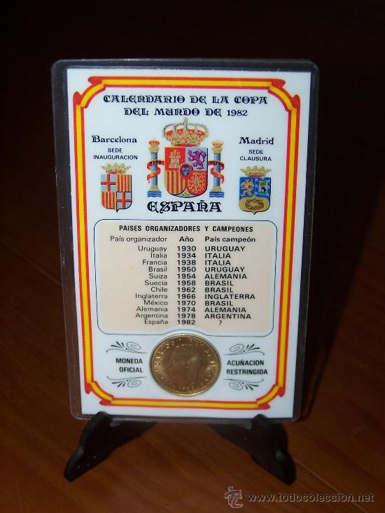 Calendario 1978 Mexico.Calendario De La Copa Del Mundo De 1982 1 Pese Sold