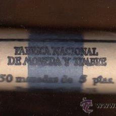 Monedas Juan Carlos I: MONEDA JUAN CARLOS I 1975*76 5 PTA CARTUCHO FNMT DE 50 PIEZAS SIN CIRCULAR . Lote 98886135