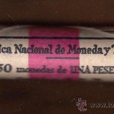 Monedas Juan Carlos I: MONEDA JUAN CARLOS I 1975*77 1 PTA CARTUCHO FNMT ABIERTO 50 PIEZAS SIN CIRCULAR. Lote 98077144