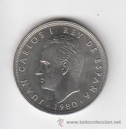 MONEDA JUAN CARLOS I 25 PTA 1980*82 LOTE DE 5 PIEZAS SIN CIRCULAR (Numismática - España Modernas y Contemporáneas - Juan Carlos I)