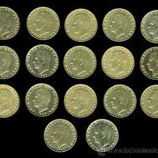 Monedas Juan Carlos I: LOTE DE 17 MONEDAS DE 100 PESETAS 1983 RARAS , EBC- ORIGINALES, VER FOTO REVERSOS. Lote 27967650