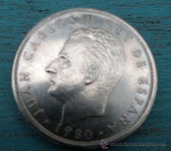 Monedas Juan Carlos I: ANTIGUA MONEDA DE 5 PESETAS - MUNDIAL ESPAÑA 82 - AÑO 1980 - - Foto 2 - 190194183