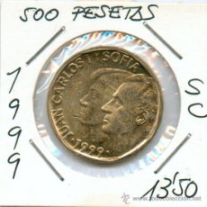Monedas Juan Carlos I: 1999 500 PESETAS DE JUAN CARLOS I. SIN CIRCULAR, PRECIOSA. Lote 28346547