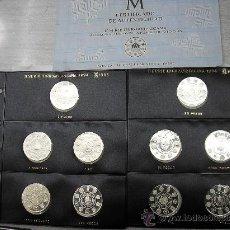 Monedas Juan Carlos I: 2 HOJAS DE PARDO CON 10 MONEDAS DE PLATA DE II SERIE IBEROAMERICANA DE 1994. Lote 29484768