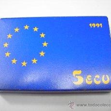 Monedas Juan Carlos I: ESTUCHE CON 5 ECU DE PLATA DE 1991.3ªEMISIÓN.AVERROES.. Lote 29488357