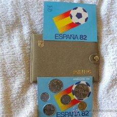 Monedas Juan Carlos I: PHILIPS JUEGO MONEDAS MUNDIAL 82 CON SU ESTUCHE NUEVO COMPLETO COLECCION PESETAS. Lote 29678656