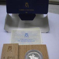 Monedas Juan Carlos I: ESTUCHE CON 1 ECU DE PLATA DE 1989. EUROPA. . Lote 30165519