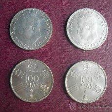 Monedas Juan Carlos I: LOTE 4 MONEDAS DE 100 PESETAS MUNDIAL 1982. Lote 30224912