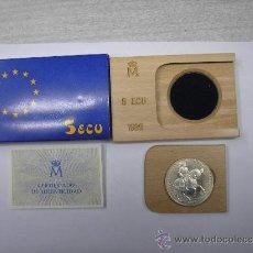 Monedas Juan Carlos I: 5 ECUS DE PLATA DE 1989. EMPERADOR CARLOS 1 A CABALLO. Lote 30603460