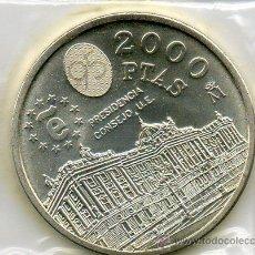 Monedas Juan Carlos I: MONEDA 2000 PESETAS PLATA AÑO 1995 BANCO DE ESPAÑA. PRESIDENCIA CONSEJO UE. CON SOBRE ORIGINAL. SC. Lote 31162870