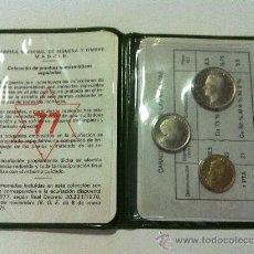 Monedas Juan Carlos I: CARTERA PRUEBA NUMISMATICA. AÑO 1977. TRES VALORES. Lote 56664440