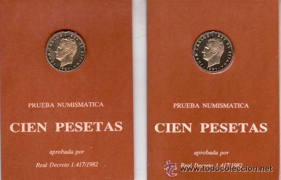 Lote 2 Carteras 1982 Proof Sc 100 Pesetas Li Comprar Monedas De