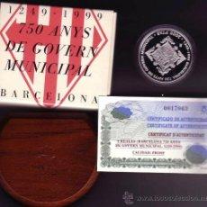 Monedas Juan Carlos I: 1999 2000 PTAS. 750 ANIV DEL GOBIERNO MUNICIPAL DE BARCELONA. . Lote 32972339