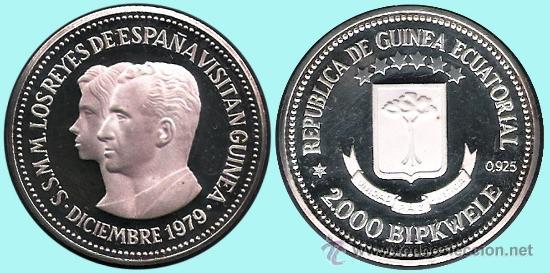 Monedas Juan Carlos I: GUINEA ECUAT. 1979*80 PRUEPIEFORT 1000 Bipkuele Br.PLATEADO 23,5 gr. V.DE LOS REYES ESPAÑA.PROOF. - Foto 2 - 34411734