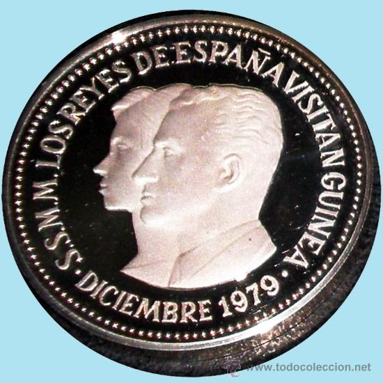 Monedas Juan Carlos I: GUINEA ECUAT. 1979*80 PRUEPIEFORT 1000 Bipkuele Br.PLATEADO 23,5 gr. V.DE LOS REYES ESPAÑA.PROOF. - Foto 3 - 34411734