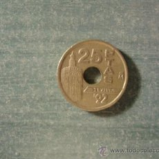 Monedas Juan Carlos I: 25 PESETAS 1992. Lote 35191675